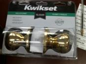 KWIKSET HALL & CLOSET DOOR KNOB